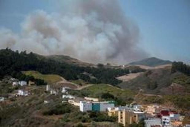 Ruim 4.000 mensen geëvacueerd voor bosbrand op Gran Canaria