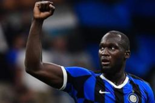 Belges à l'étranger - Romelu Lukaku marque un des quatre buts de l'Inter Milan contre Lecce