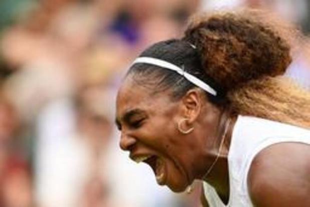Serena Williams heeft ticket voor halve finales van Wimbledon beet