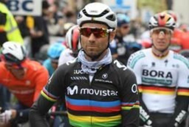Wereldkampioen Valverde moet passen voor Ronde van Italië