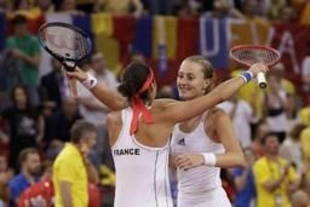 Fed Cup - Frankrijk plaatst zich voor finale tegen Australië