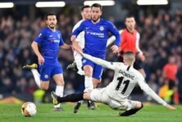 Europa League - Chelsea zorgt voor Engelse finale, Hazard scoort beslissende penalty