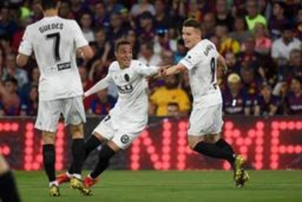 Copa del Rey - Valencia houdt Barcelona van recordwinst
