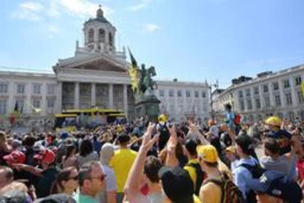 Tour de France - Près de 500.000 personnes pour la première étape du Tour de France à Bruxelles