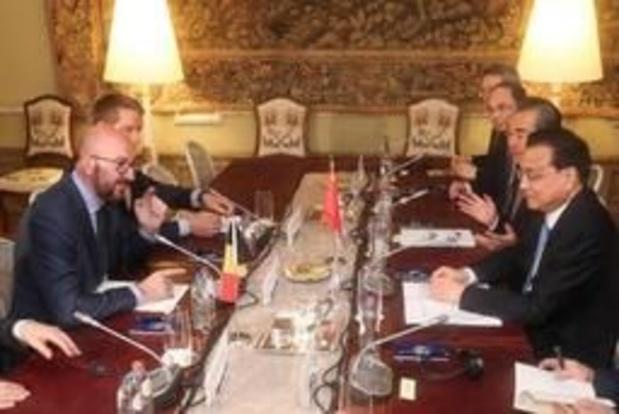 Premier Michel krijgt Chinese ambtgenoot op bezoek