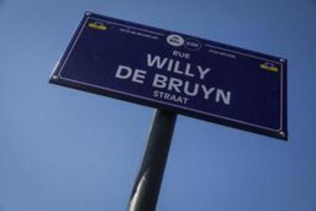 Inauguration d'une rue au nom du cycliste belge Willy De Bruyn à Bruxelles