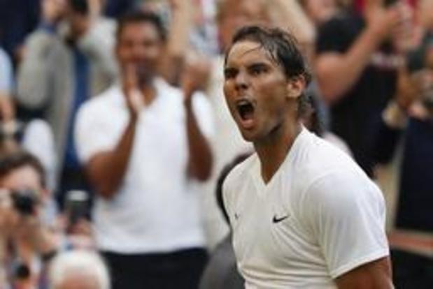 Wimbledon - Rafael Nadal bereikt derde ronde na intens duel met Kyrgios