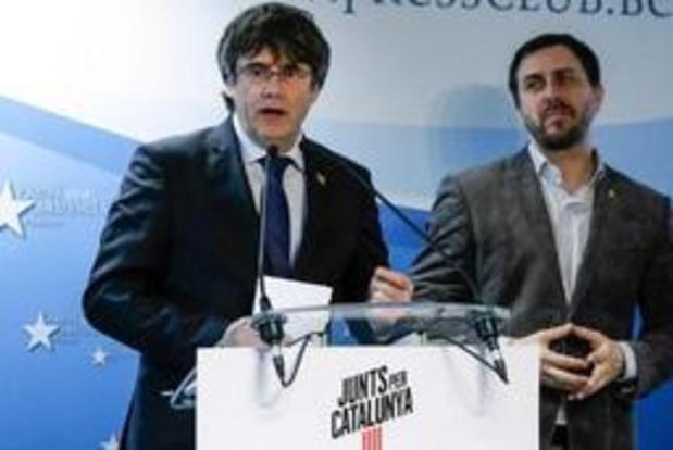 Spanje blokkeert Europees mandaat Carles Puigdemont