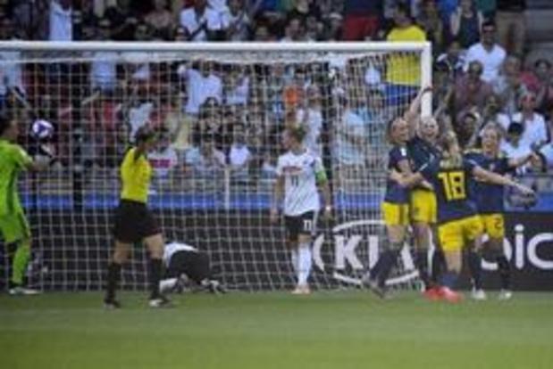 WK vrouwenvoetbal - Zweden plaatst zich als laatste voor de halve finales