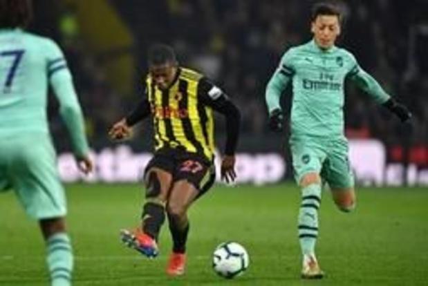 Les Belges à l'étranger - Watfrod et Kabasele battus par Arsenal, Castagne contraint au partage