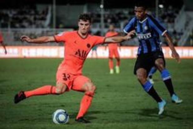 Belgen in het buitenland - Meunier verliest met PSG oefenduel van Inter