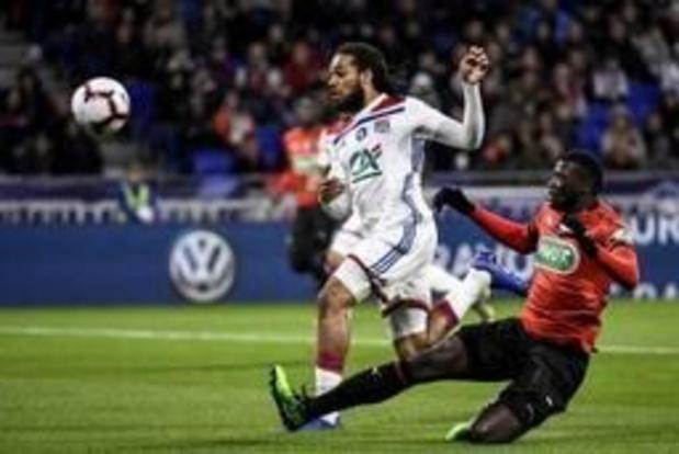Les Belges à l'étranger - Lyon et Denayer éliminés aux portes de la finale en Coupe de France par Rennes