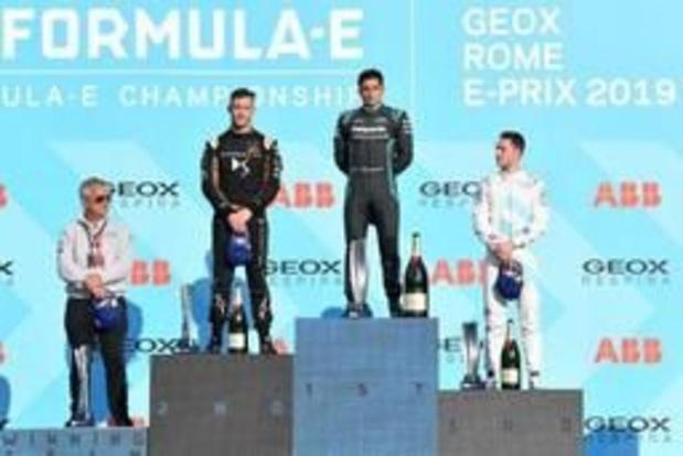 Formule E - Vandoorne behaalt in Rome eerste podiumplaats, D'Ambrosio voert algemeen klassement aan