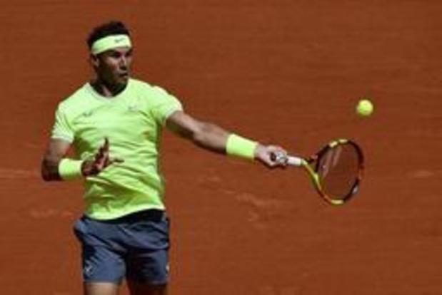Rafael Nadal zet boeman van Coppejans opzij en wacht Goffin op