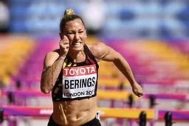 Eline Berings strandt op twee honderdsten van EK-limiet