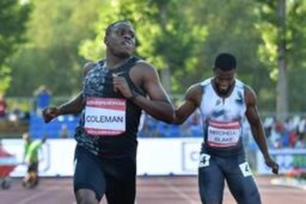 Coleman overvleugelt concurrentie op 100m op Amerikaanse trials
