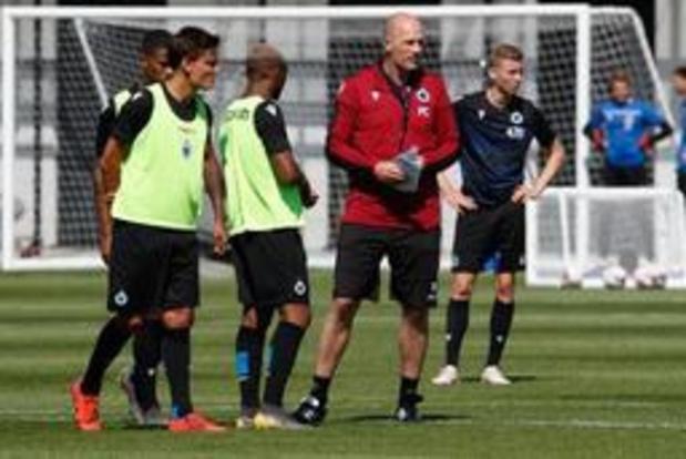 Ving-six joueurs pour la reprise sous les ordres de Clement à Bruges