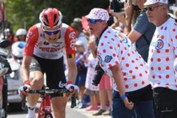 Tour de France: Tim Wellens prend les premières secondes de bonification au sommet d'un col