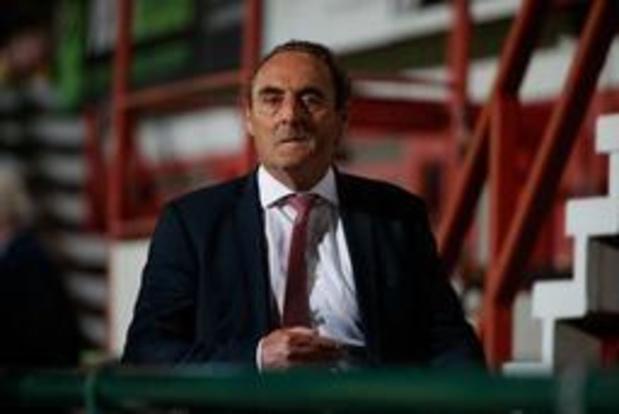 Yves Vanderhaeghe, l'entraîneur de Courtrai, risque une suspension de deux matches