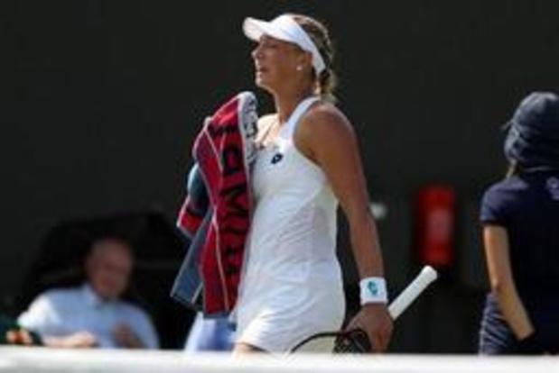 Yanina Wickmayer grijpt naast halve finales