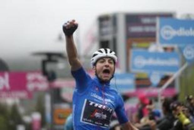 Giulio Ciccone a vaincu le froid pour décrocher une deuxième victoire au Giro