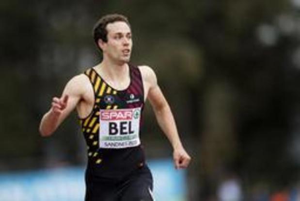 BK atletiek - Robin Vanderbemden is snel op 200 meter, Jonathan Borlée maakt mindere beurt