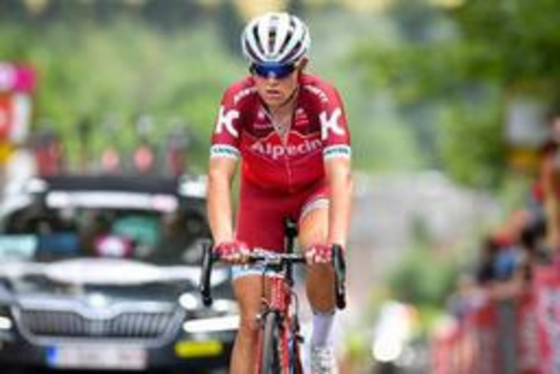 Tiesj Benoot cède son maillot de leader à Mads Würtz Schmidt au Tour du Danemark