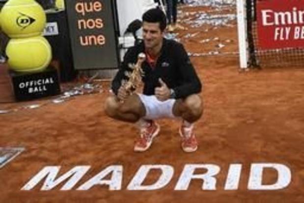 Djokovic verstevigt eerste plaats op ATP-ranking, Goffin blijft 23e