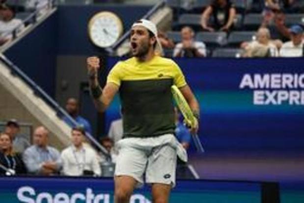 US Open - Matteo Berrettini is halvefinalist na slijtageslag tegen Monfils