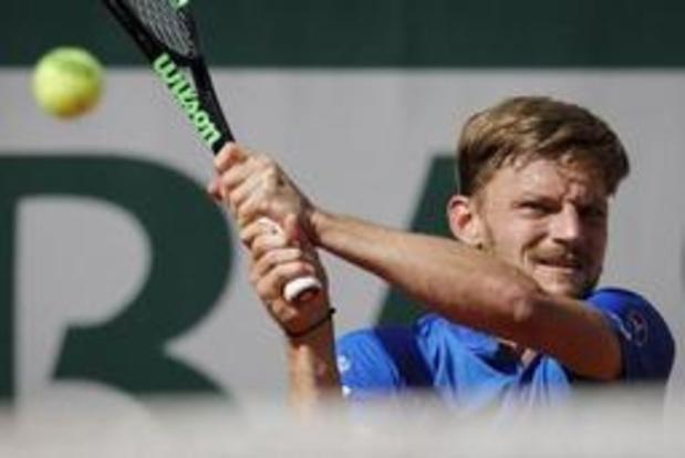 David Goffin en quarts de finale du double avec Pierre-Hugues Herbert
