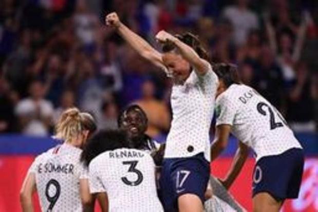WK vrouwenvoetbal - Gastland Frankrijk stuurt Brazilië na verlengingen naar huis