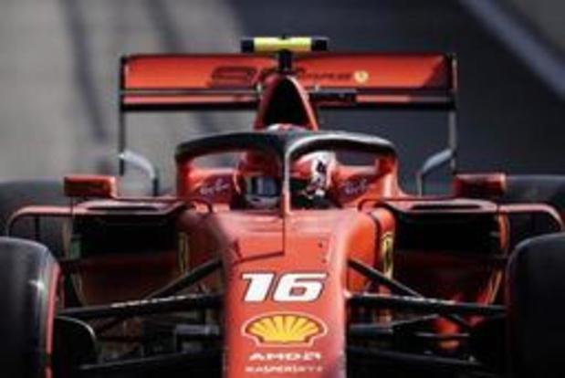 Charles Leclerc pakt de pole voor GP van België
