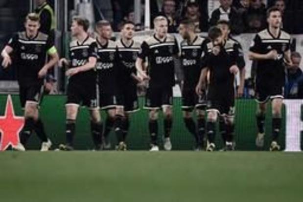 Champions League - Ajax na 22 jaar terug in halve finale na stuntzege tegen Juventus, Barça vlot voorbij ManU