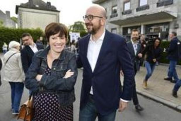 Charles Michel et Amélie Derbaudrenghien heureux parents d'une petite Lucie