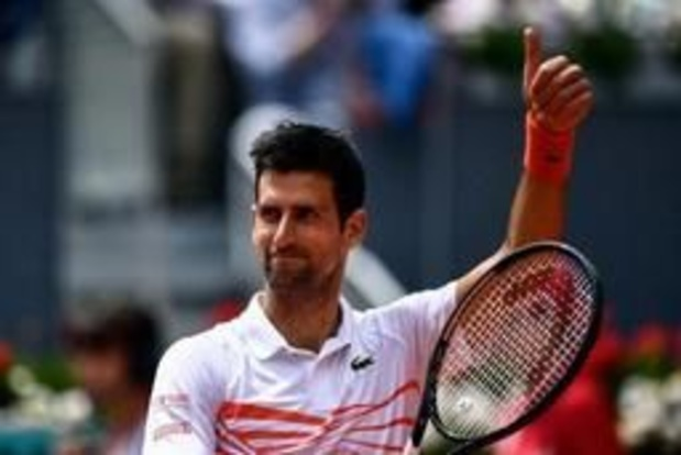 Novak Djokovic file en quart de finale à Madrid