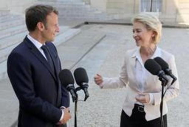 Macron et Von der Leyen affichent des objectifs communs pour l'UE