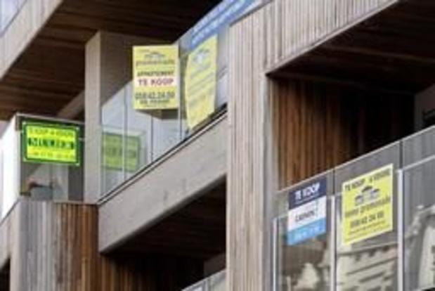 Le prix médian pour une maison mitoyenne en Belgique était de 200.000 euros l'an dernier