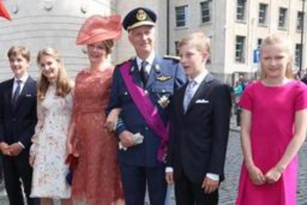 Plus de 1.000 personnes sont allées voir la famille royale au Te Deum à Bruxelles