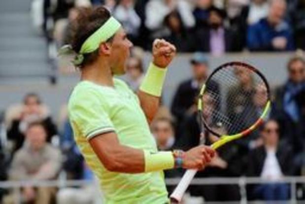 Rafael Nadal staat opnieuw in finale van Roland Garros