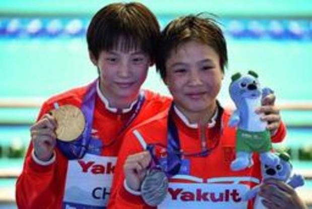 A 13 ans, les Chinoises Chen Yuxi et Lu Wei gagnent l'or et l'argent du plongeon à 10 m