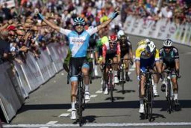 Davide Cimolai heureux de s'imposer dans sa course de reprise