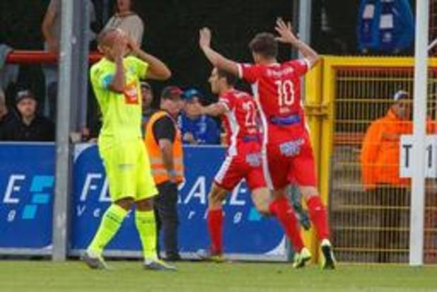 Jupiler Pro League - Moeskroen dient Gent eerste seizoensnederlaag toe en komt op gedeelde tweede plaats