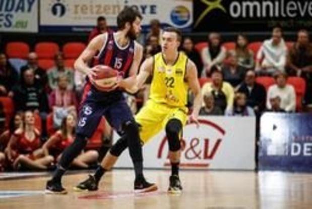 EuroMillions Basket League - Chaleroi verliest van Bergen, zeges voor Antwerp en Oostende