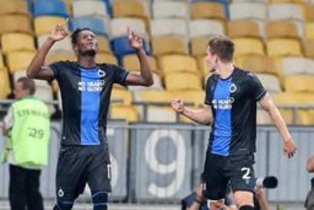 Champions League - Club Brugge plaatst zich via 3-3 gelijkspel in Kiev voor play-offronde