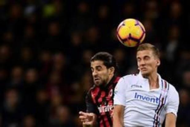 Belgen in het buitenland - AC Milan verliest van Sampdoria na blunder van Donnarumma