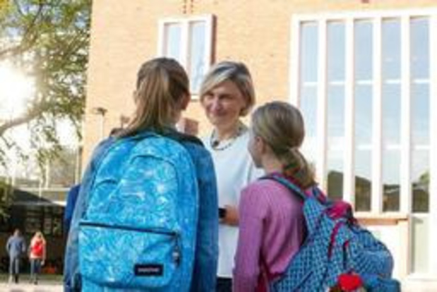 Crevits geeft startschot van het nieuwe schooljaar in Torhout