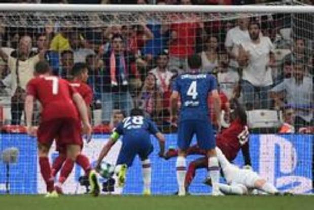 Europese Supercup - Verlengingen in duel tussen Liverpool en Chelsea: 1-1 na negentig minuten