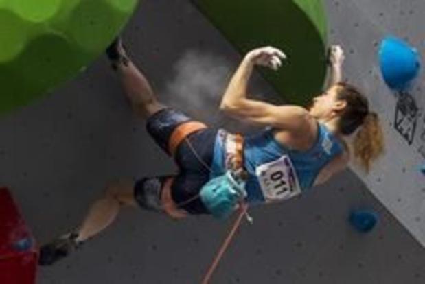 Anak Verhoeven et Nicolas Collin champions de Belgique d'escalade en lead