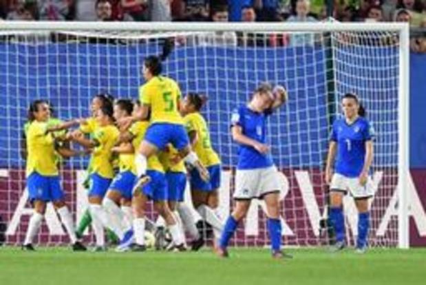 WK vrouwenvoetbal - Marta bezorgt Brazilië met historische treffer de zege tegen Italië