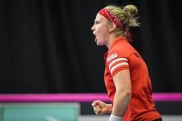 Sterke Bonaventure pakt scalp van Muguruza, België op voorsprong in Fed Cup